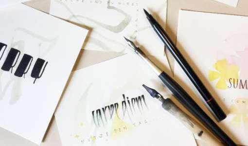 """Die """"goldene 3"""" & die Kalligrafie"""