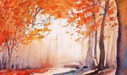 Herbstlandschaften in Aquarell
