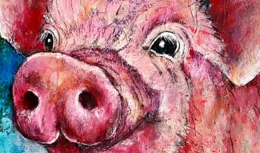 Tiere in Acryl