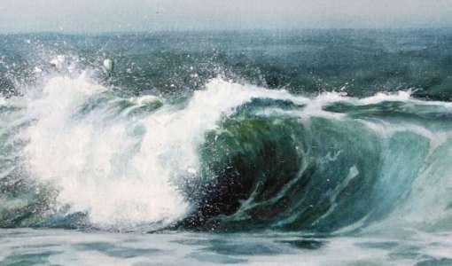 Wellen, Weite und das Meer in Aquarell