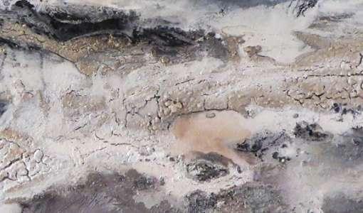 Landschaft Abstrakt mit Braun-Grautönen und Weiß