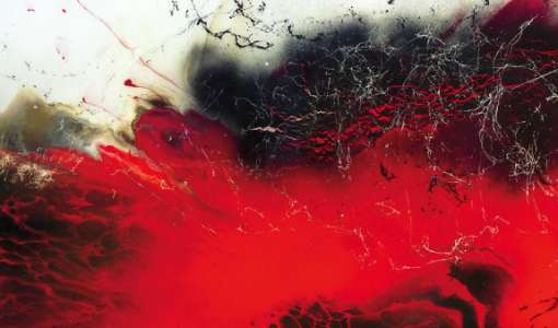 Experimentelle Malerei mit Kunstharz