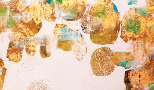 Großformatige Malerei auf selbstgebauter Leinwand