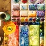 Malerei im Atelier